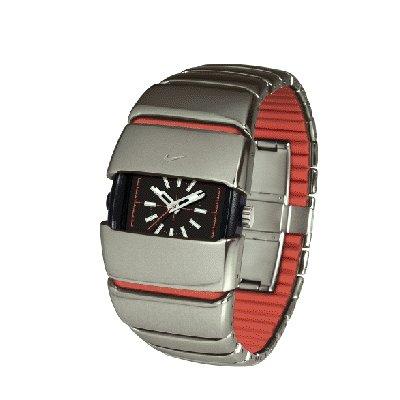 Square Metal Watch - Nike D Line Big Al Analog Watch - Gunmetal/Engine - WC0008-046
