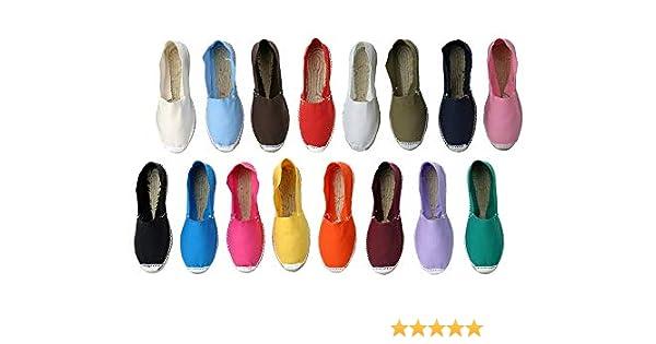 Alpargatas 24 Pares, Cerradas Boda Surtidas en Colores y Tallas - Caja de 24 Pares: Amazon.es: Zapatos y complementos