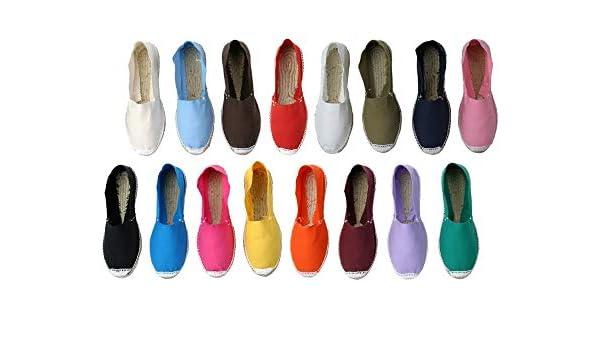 Alpargatas 36 Pares, Cerradas Boda Surtidas en Colores y Tallas - Caja de 36 Pares: Amazon.es: Zapatos y complementos