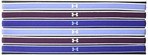 Price comparison product image Under Armour Women's Mini Headbands - 6 Pack, Academy (433)/Rhino Gray, Large