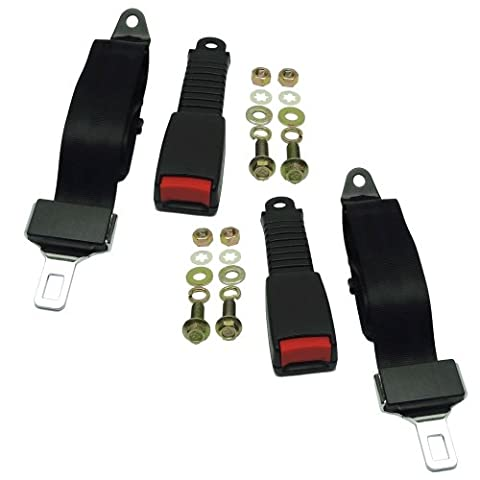 (2) Universal Seat/Lap Belt Kits for Club Car, Yamaha, EZGO Golf Carts- Seatbelt - Golf Kit