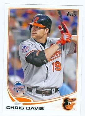 Chris Davis Baseball Card Baltimore Orioles 2013 Topps