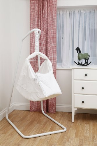 Poco Baby Natures Nest Motion Bed Hammock Package : Colour White Includes Two Fitted Sheets And Carry / Travel Bag NN-WT