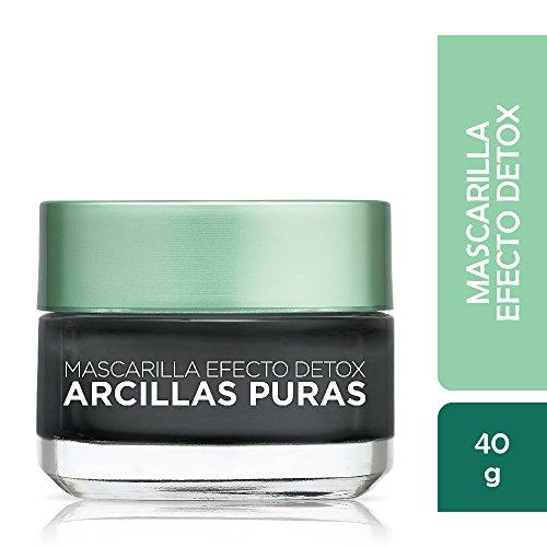 L'Oréal Paris -  Mascarilla negra, Arcillas Puras, 40 g