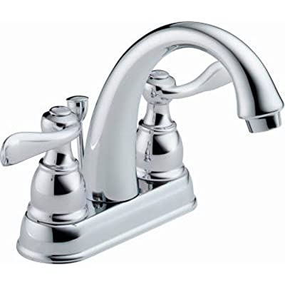 Delta Faucet Windemere 2-Handle Centerset Bathroom Faucet with Metal Drain Assembly