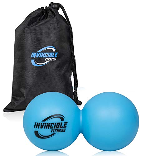 Invincible Fitness Massage Balls Set for Deep Tissue Muscle Recovery, Perfect for Myofascial Release, Trigger Point Therapy, Mobility and Plantar Fasciitis (Blue) ()