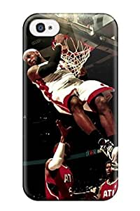 Anti-scratch And Shatterproof Awesome Sports Nba Phone Case For Iphone 4/4s/ High Quality Tpu Case