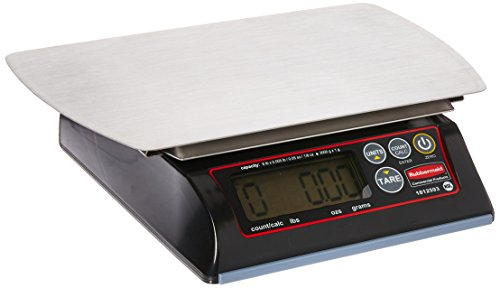 Rubbermaid Commercial Products 1812593 Premium Stainless Steel Digital Scale for Foodservice Portion Control, 6 lb ()