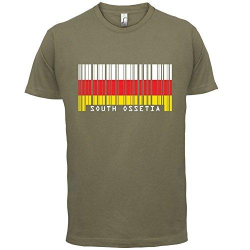 South Ossetia / Südossetien Barcode Flagge - Herren T-Shirt - Khaki - S