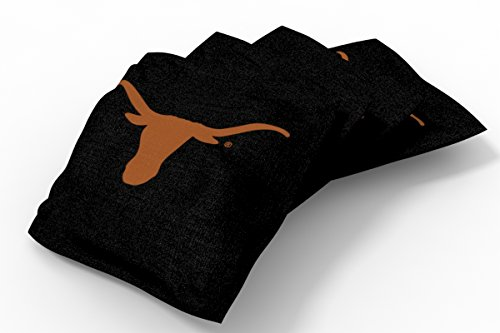 Texas Bean Bag (Wild Sports NCAA College Texas Longhorns Black Authentic Cornhole Bean Bag Set (4 Pack))