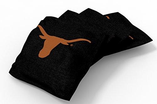Wild Sports NCAA College Texas Longhorns Black Authentic Cornhole Bean Bag Set (4 Pack) ()