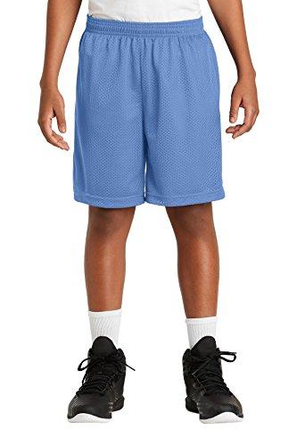 (Sport-Tek Boys' PosiCharge Classic Mesh Short XL Carolina Blue )