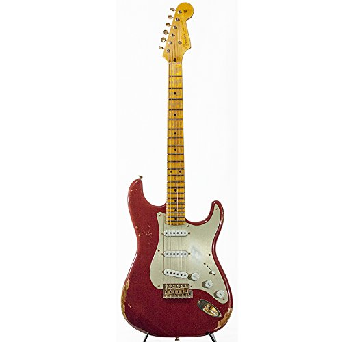 Fender Custom Shop Limited Edition Golden 1954 Heavy Relic Strat with Gold Hardware & Gold Anodized Pickguard Cimarron Red Maple Fingerboard