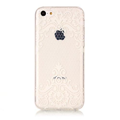 Custodia iPhone 5 5S SE , LH TPU Trasparente Silicone Cristallo Morbido Case Cover Custodie per Apple iPhone 5 5S SE