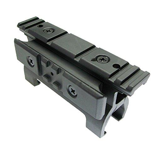 Worldshopping4U metal MP52-side Alto Perfil Alcance Slide Rail Mount Base con 20mm Picatinny Weaver