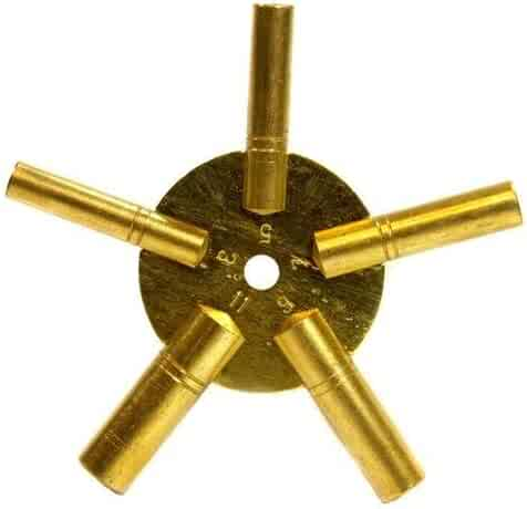 Clock Winding Key - Brass, Odd Number