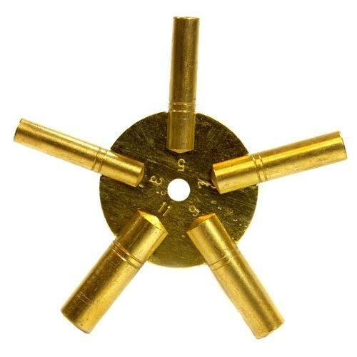 Clock Winding Key - Brass, Odd Number Collection Key Wind Movement