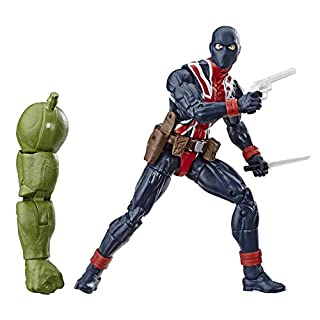 """Marvel Legends Series Union Jack 6"""" Collectible Action Figure Toy For Ages 4 & Up with Accessories & Build-A-Figurepiece"""