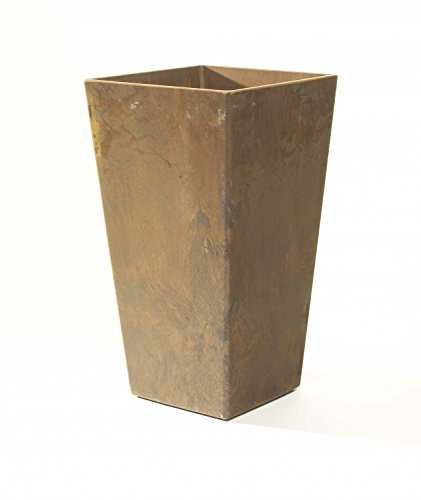 ArtStone Ella Tall Planter, Teak, 27.5-Inch by Novelty