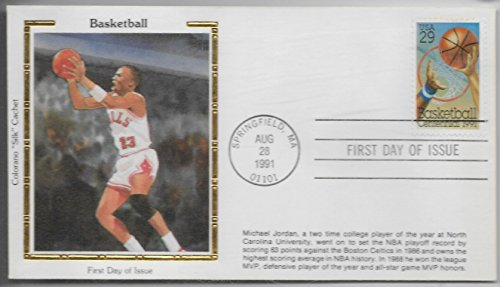 Michael Jordan Colorano Silk Cachet First Day Issue Envelope August 28, 1991 ()