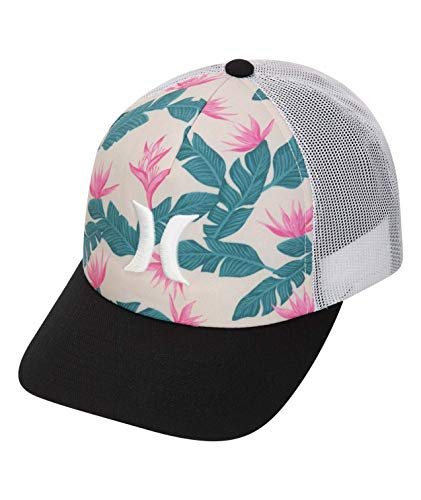 Hurley Women's Apparel Women's Hanoi Icon Trucker Hat, Crimson Tint, One Size Fits All