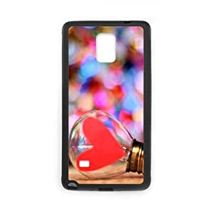 Samsung Galaxy Note 4 Case, Love Heart Bulb Case for Samsung Galaxy Note 4 {Black}
