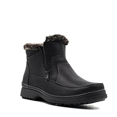 Amazon.com | Men's Winter Fur Lined with Double Side