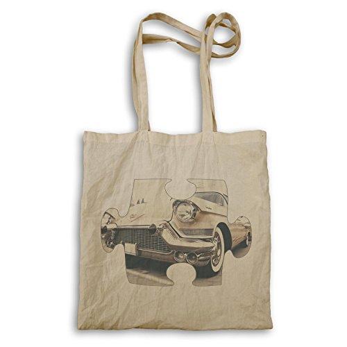 Puzzle Vintage altes schönes Auto Bild Tragetasche e609r