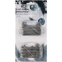 Christmas Ornament Hooks - Ornament Hangers - Large 2.5 inch (Silver) 200ct