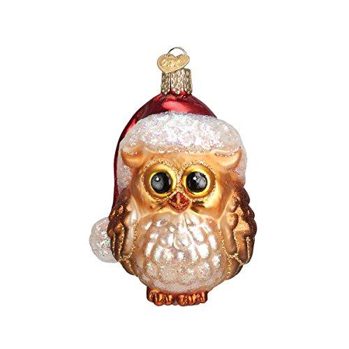 Old World Christmas Ornaments: Santa Owl Glass Blown Ornaments for Christmas Tree