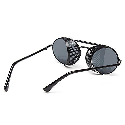Gafas Mujeres UV400 de Hombres sol Punk Metal Negro Highdas aq1d7a