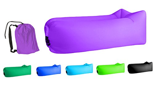 Jsutyer Inflatable Lounger Portable Air Couch, Air Sofa Bag, Indoor or Outdoor Inflatable Chair, Ideal for Child, Inflatable Lounge for Camping Beach Park and Backyard (Purple)