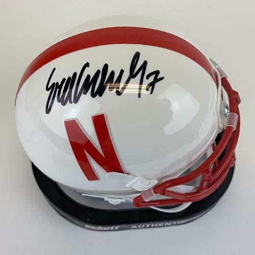 Eric Crouch Signed Nebraska Cornhuskers Mini Football Helmet Witness COA - JSA Certified - Autographed College Helmets