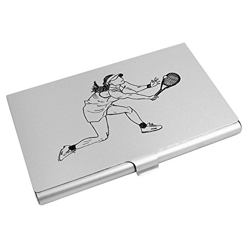 Azeeda 'Lady Playing Tennis' Business Card Holder / Credit Card Wallet - Cards Business Tennis