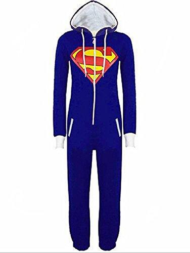 Harry Shops Sleepsuit Pajamas Costume Cosplay Homewear Lounge (Superman Adult Onesie)