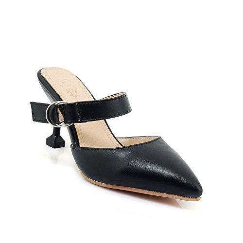 Femmes Amende Flop Sandales Avec Flip Black Talon Haut Fait UxwXX0cdZq