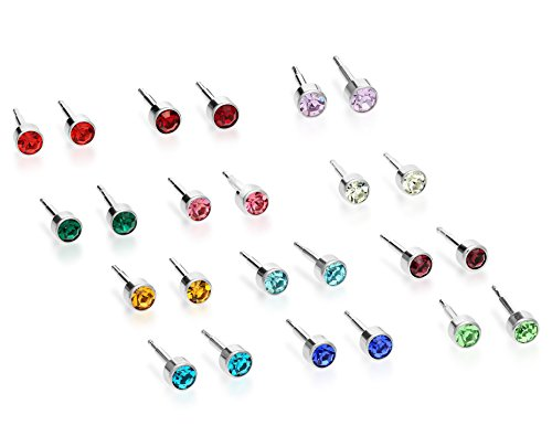 Stainless Steel Various Colored Earring
