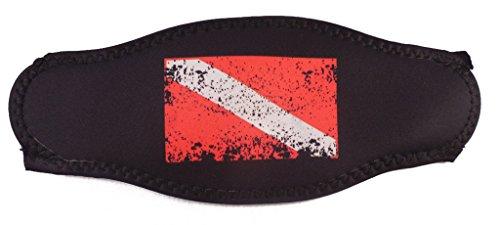 Innovative Scuba Faded Dive Flag Mask Strap Wrapper Red/Black