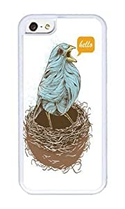 linJUN FENGApple iphone 4/4s Case,WENJORS Adorable Twisty Bird Soft Case Protective Shell Cell Phone Cover For Apple iphone 4/4s - TPU White