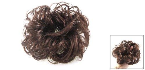 Amazon.com: eDealMax 5.5 Diámetro de bricolaje Partido peluca de Pelo postizo de onda del Bollo marrón claro Para Damas: Health & Personal Care
