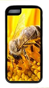 Beautifule TPU Supple Shell Flower Bee with Black Skin Edges for Iphone 5C Case