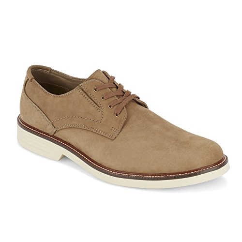 G.H. Bass & Co. Mens Madison Leather Oxford Shoe with NeverWet, Dirty Buck, 9 -