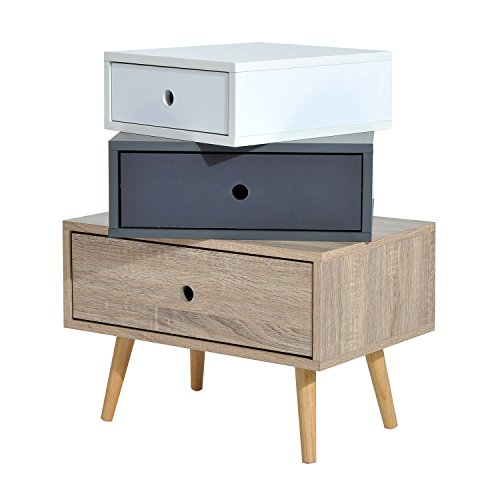 HomCom Mid Century Modern Storage Cabinet Offset Accent Drawers by HOMCOM