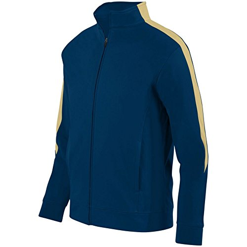 Augusta Activewear Youth Medalist Jacket 2.0, Navy/Vegas Gold, - Vegas Center Las Shopping In