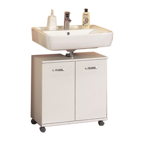 Badmöbel Waschbeckenschrank »CASANDRA« weiß-perl, rollbar