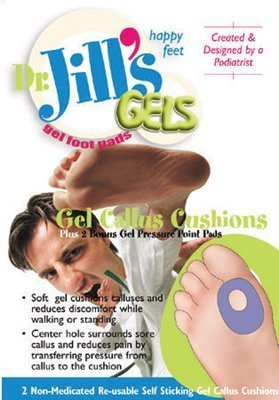 Gel Callus Cushion, 4 Pads/Order! by Dr. -