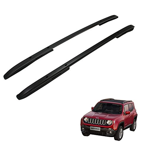 Black Roof Rack Rail fit for JEEP Renegade 2015-2017 Cross Bar Baggage -  HEKA, 00JP0ZYXYCKXLJHS