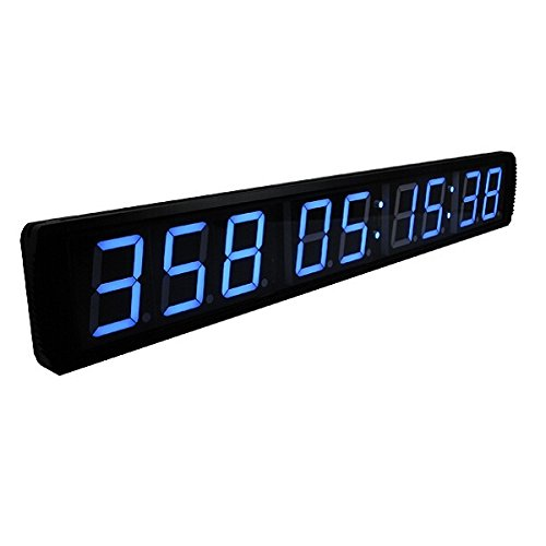 Blue 4'' 9Digits LED Countdown Clock Event Timer For Church Museum - New Years Countdown Clock