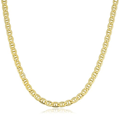 Kooljewelry 14k Yellow Gold Filled Unisex 5 mm Mariner Link Chain Necklace (20 ()