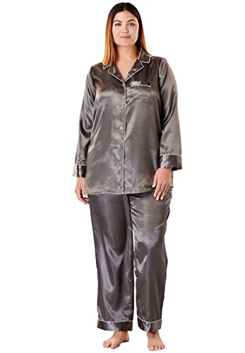 ffb4b6465e3 Amoureuse Women s Plus Size The Luxe Satin Pajama Set at Amazon Women s  Clothing store